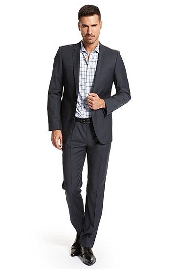 Slim Fit 'Aiko1/Heise' Suit, Dark Blue