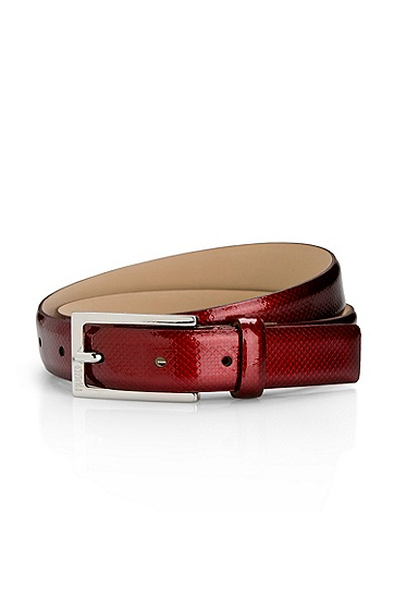 Patent leather 'Galbero-F' Belt, Red