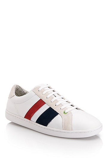 Suede And Leather 'Perrys' Sneaker, White