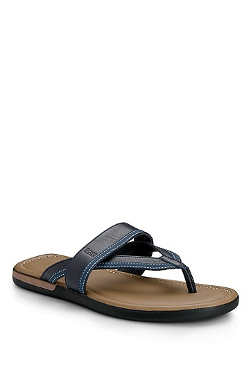 Leather 'Mellero' Sandal, Navy