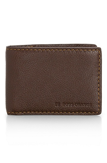 Leather 'Darki' Wallet, Dark Brown