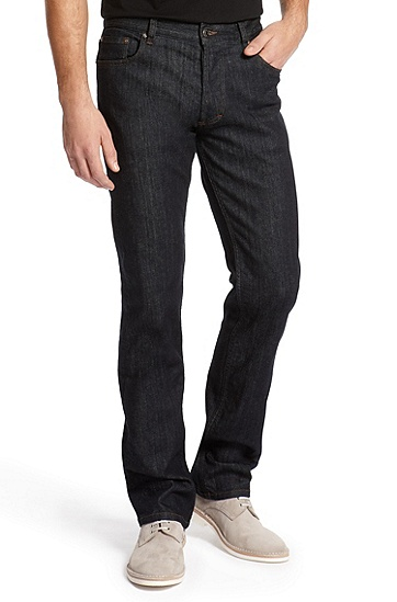 Slim Fit Straight Leg 'Hugo 677/8' Jean, Dark Blue