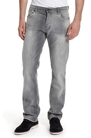 Regular Fit Straight Leg 'Hugo 677/8' Jean, Silver