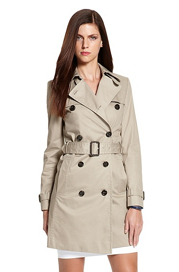 Cotton-Blend 'Mihala' Trench Coat, Dark Beige