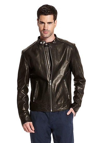 Lambskin Leather 'Lamoris' Jacket, Black