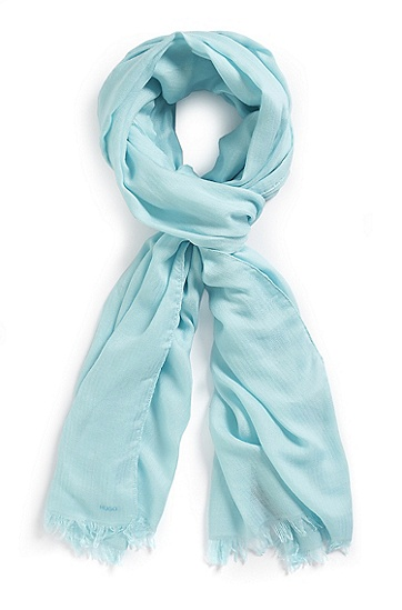 'Woman' | Modal Scarf, Light/Pastel Green