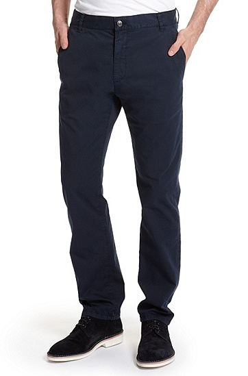 Regular Fit Chino 'Hugo 015/X' Pant, Open Blue