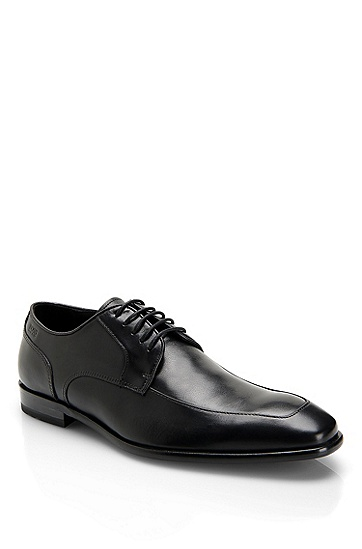 'Mettor' | Leather Lace-Up Dress Shoe, Black