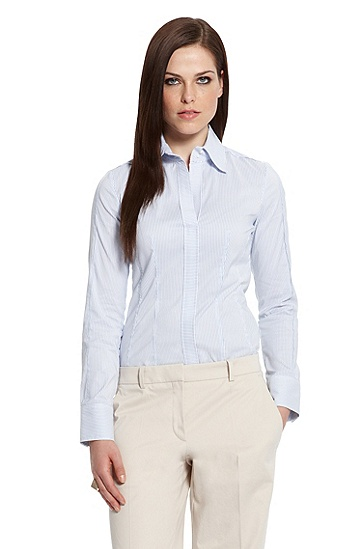 Cotton-crepe 'Bashina2' Button Down, Open Miscellaneous