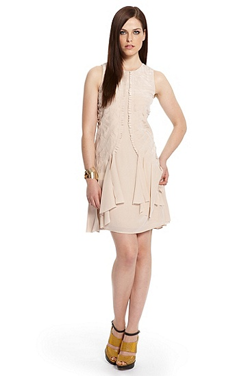 Silk Fringe 'Dierka' Dress, Light/Pastel Orange