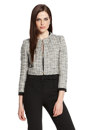 Cropped Tweed 'Jemila' Jacket, Open Miscellaneous