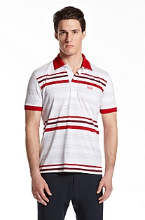 Slim Fit Striped 'Paule' Polo Shirt