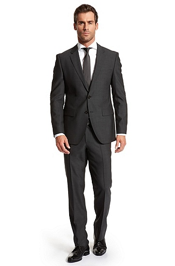 Modern Fit Two Button 'Hour/Sharp' Suit, Dark Grey