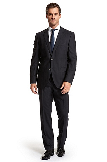 Modern Fit Virgin Wool 'Hour/Sharp' Suit, Dark Blue