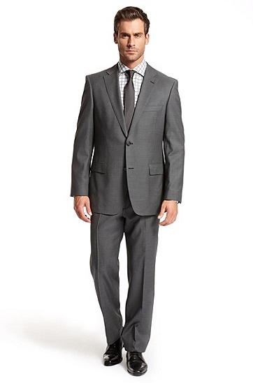 Classic Fit Two Button 'Pasini/ Movie' Suit, Dark Grey