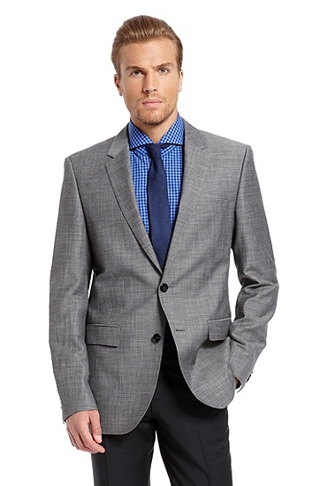 Modern Fit Wool and Linen 'The James3' Sport Coat, Dark Grey