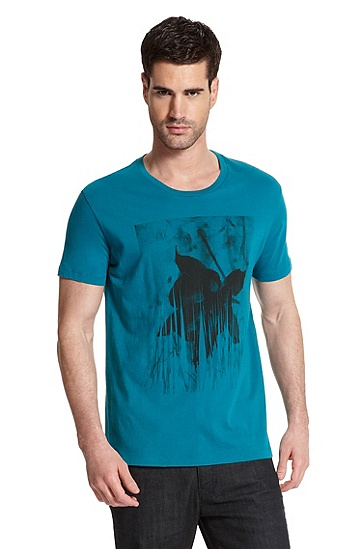 Graphic Print 'Dower' T-Shirt, Medium Green
