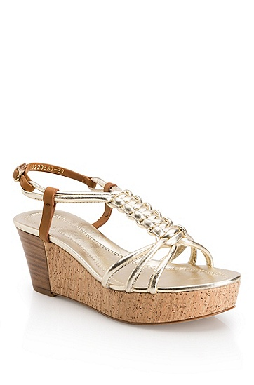 Leather Platform 'Sydne-L' Sandal, Silver
