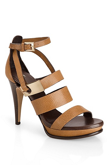 Leather Platform 'Haika' Sandal, Light/Pastel Brown