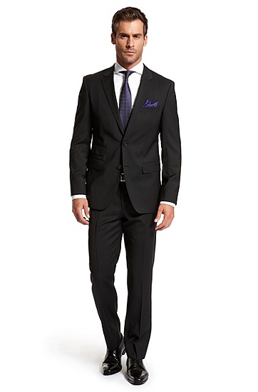 Modern Fit Two Button 'The Sweet/Sharp' Suit, Black