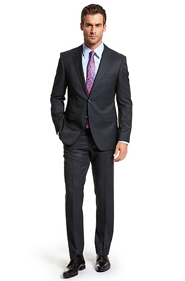 Modern Fit Two Button 'The James/ Sharp' Suit, Navy