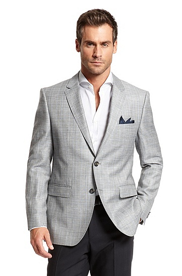 Modern Fit Wool and Linen 'The James3' Sport Coat, Open Grey