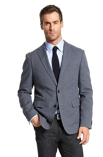Slim Fit Cotton and Linen 'Miles' Sport Coat, Medium Blue