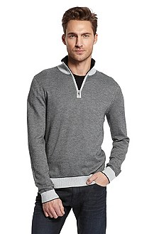 Slim Fit Stand-Up Collar 'Galanto' Sweater