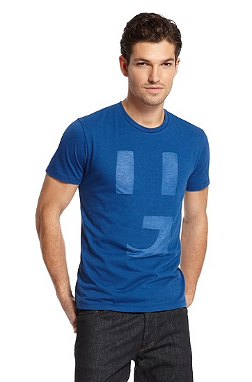 Burnout 'Dicono' T-Shirt, Bright Blue