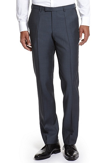 Modern Fit Wool-Twill 'Sharp1' Dress Pant, Medium Blue
