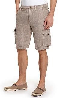 Regular Fit Linen-Twill Cargo 'Sjan-Shorts-W' Short