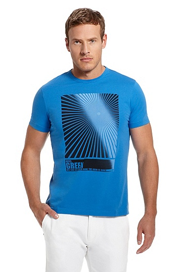 Graphic Print 'Tee 5' T-Shirt, Medium Blue