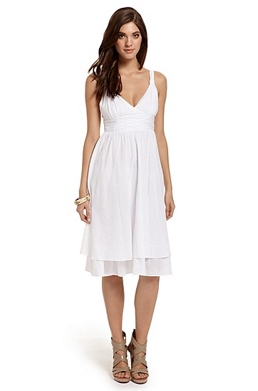 Cotton Voile 'Aluna-W' Dress, White