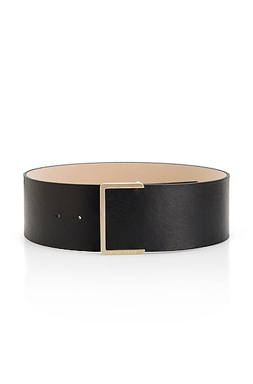 Leather 'Jayla' Belt, Black