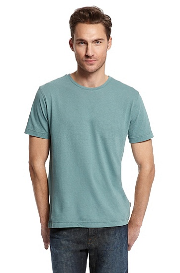 Round Neck 'Terni 75' T-Shirt, Open Green