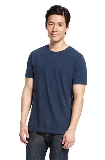 Round Neck 'Terni 75' T-Shirt, Open Blue