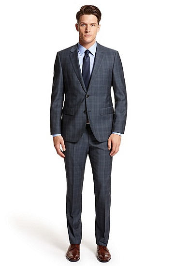 Modern Fit 'The James/ Sharp' Suit, Open Blue