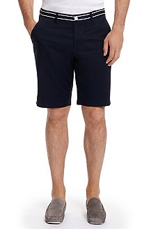 'Clyde' | Regular Fit, Cotton Shorts