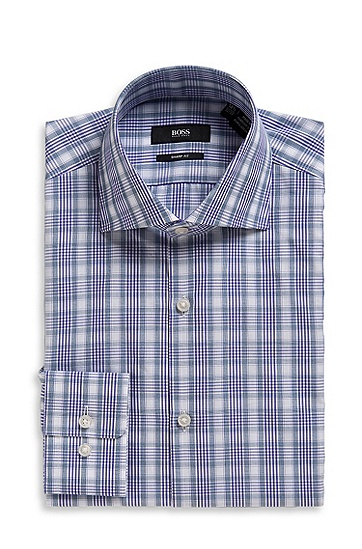 Modern Fit Shark Collar 'Miles US' Dress Shirt, Medium Purple