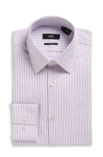 Slim Fit Point Collar 'Julen US' Dress Shirt, Bright Pink