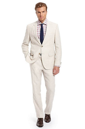 Modern Fit 'The James3/Sharp5' Suit, Light Beige