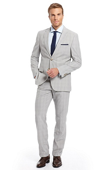 Modern Fit 'The James3/Sharp5' Suit, Open Grey