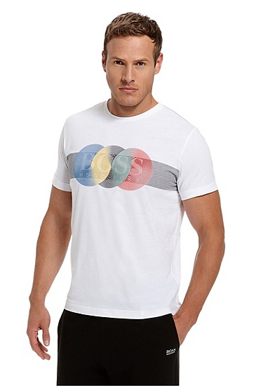 Cotton 'Teeox 1' T-Shirt, White