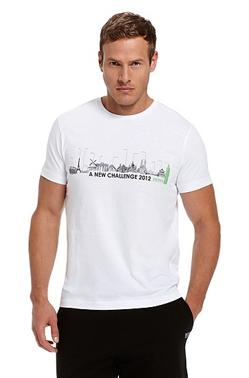 Cotton 'Teeox 2' T-Shirt, White