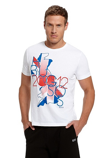 Cotton 'Teeox 5' T-Shirt, White