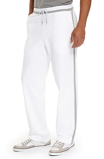 Striped French Terry 'Hajo' Sweatpants, White