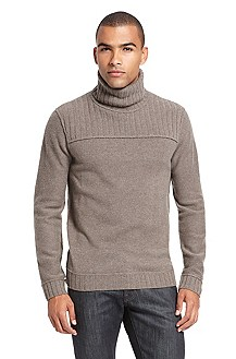 'Kaan' | Virgin Wool Ribbed Turtleneck Sweater
