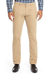 'Crigan 1-D ' | Regular Fit, Cotton Blend Casual Pant