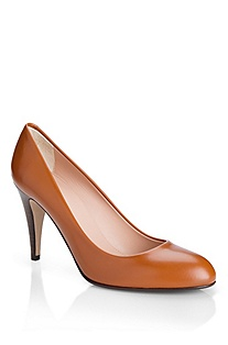 'Dayla' | Leather Round-Toe Pump