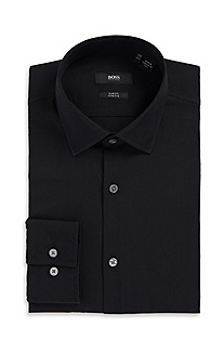 'Jenno ' | Slim Fit, Modified Point Collar Dress Shirt